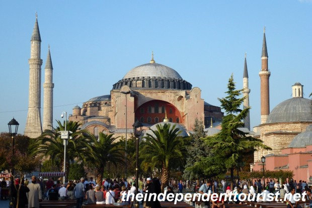 The 1,400 year-old Haghia Sophia Church.