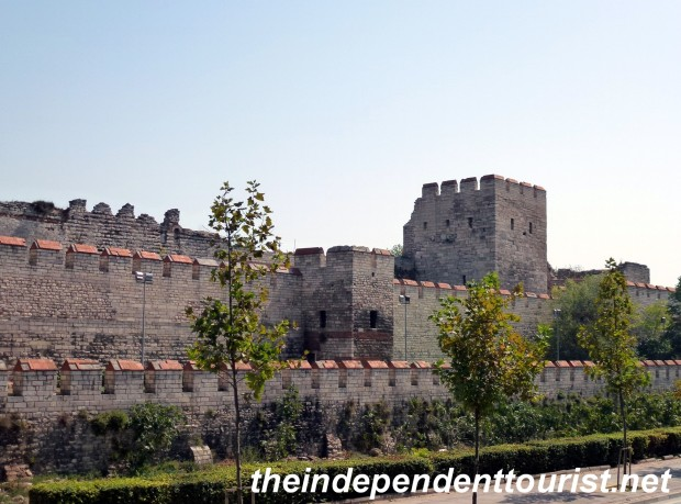 The Theodosian Walls of Constantinople.