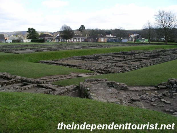 The foundations of the barracks and latrines at Caerleon.