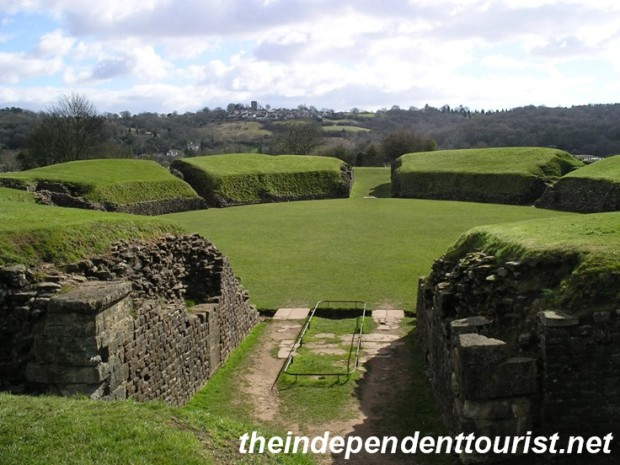 The amphitheater at Caerleon.
