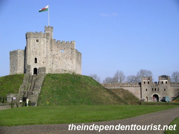 The keep at Cardiff Castle.