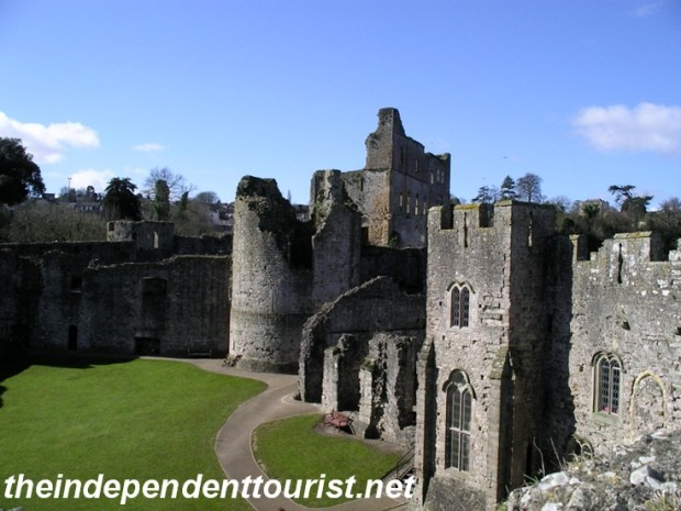 The Lower Bailey of the castle. Domestic accomodations such as kitchens, latrines, other chambers are located here.