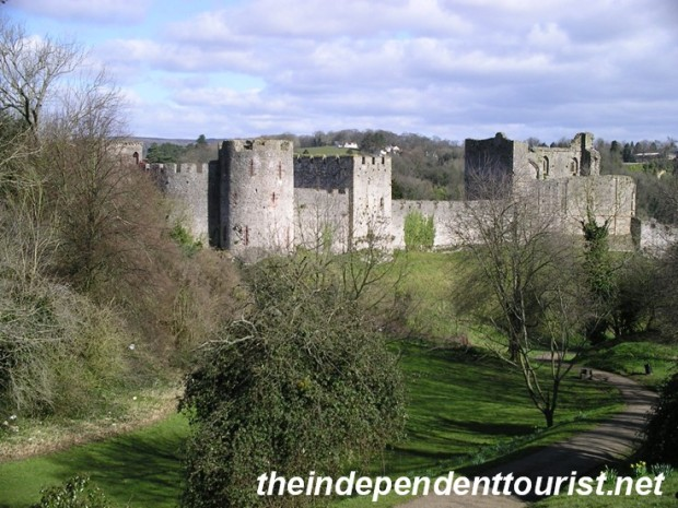 Another view of Chepstow Castle.
