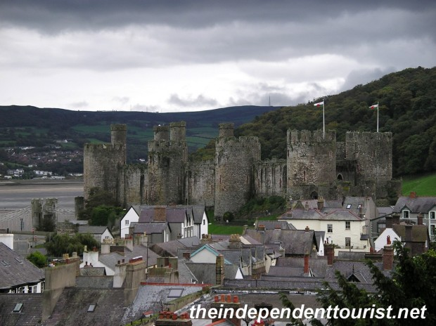 A view of Conwy Castle from the town walls.