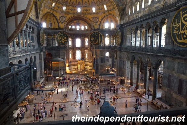The incredible nave of the Hagia Sophia.