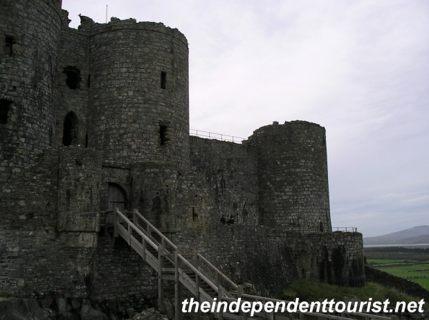 The original gateway into Harlech Castle.