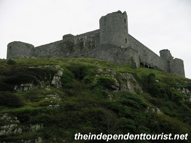 A view of Harlech Castle - with its commanding position, it would have been very difficult to attack.