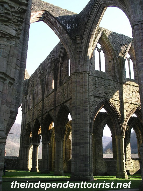 Interior of Tintern Abbey.