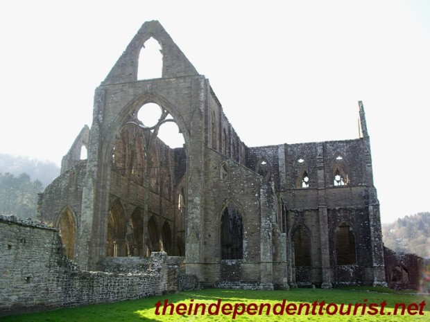 Another exterior view of Tintern Abbey.