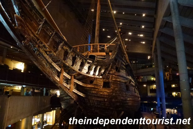 The bow of the Vasa. Entering the museum and seeing this ship is an unforgettable experience.