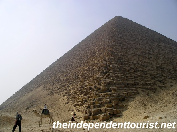 The Red Pyramid - picture perfect with a camel!