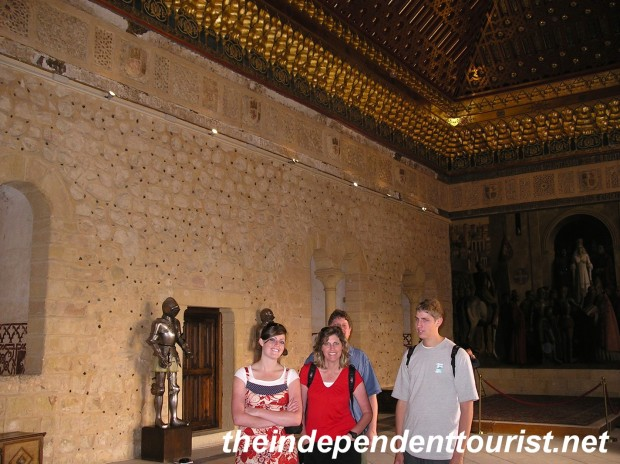 Inside one of the halls in the Alcazar.