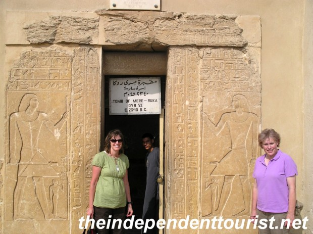 The entrance to the Tomb of Mereruka, one of the many tombs at Saqqara.