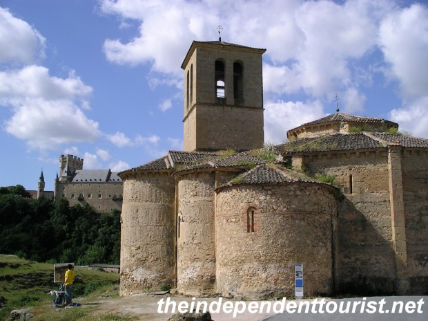 The Vera Cruz Templar church - from the early 13th century. Well worth a visit itself and for the views of the Alcazar (just behind the church).