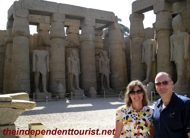 Statues of Ramses II, in the Courtyard of Ramses II.