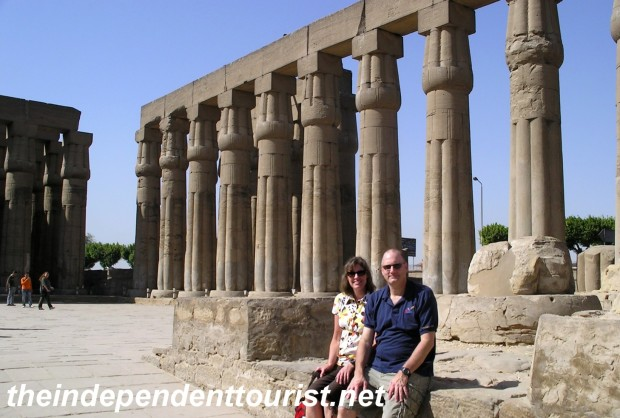 The Colonnade of Amenhotep III at Luxor Temple.