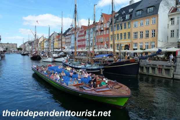 The Nyhavn district. Lots of restored 17th and 18th century houses and old ships along the canal.