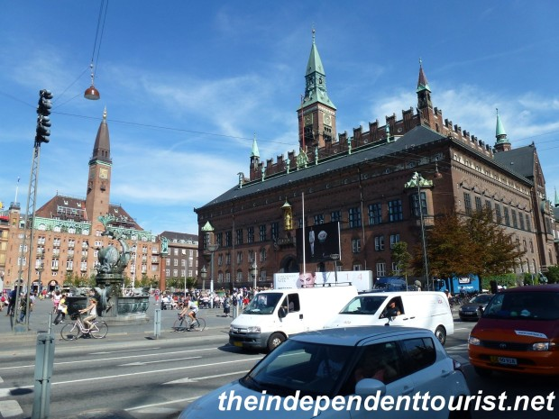 The Radhus is on the right. Great area for strolling and people watching.
