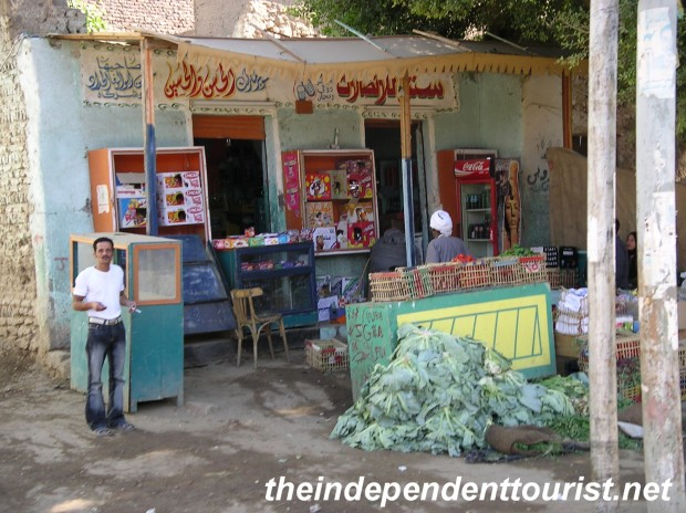 A local market in the outskirts of Luxor.