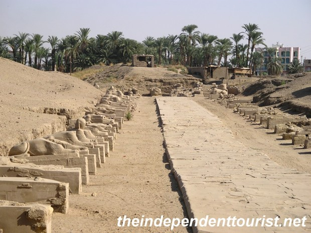 The Avenue of the Sphinxes, which connected Luxor with Karnak.