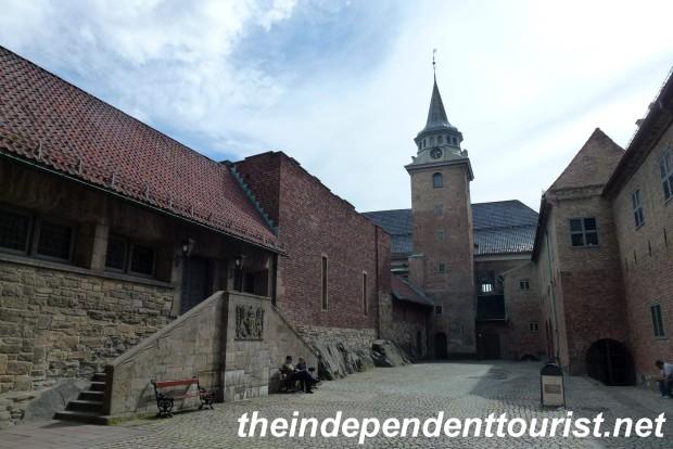 Courtyard of Akershus Fortress.
