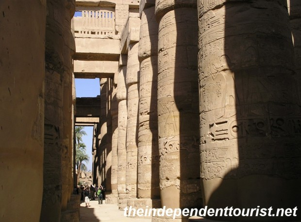 Note the size of the people in the distance - Karnak Temple is on a huge scale.