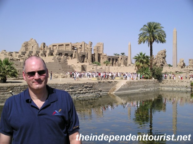 Karnak's Sacred Lake, where priests purified themselves.