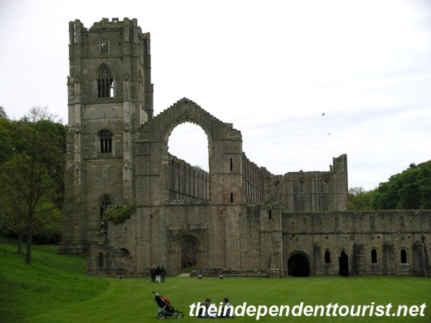 A view of Fountains Abbey.