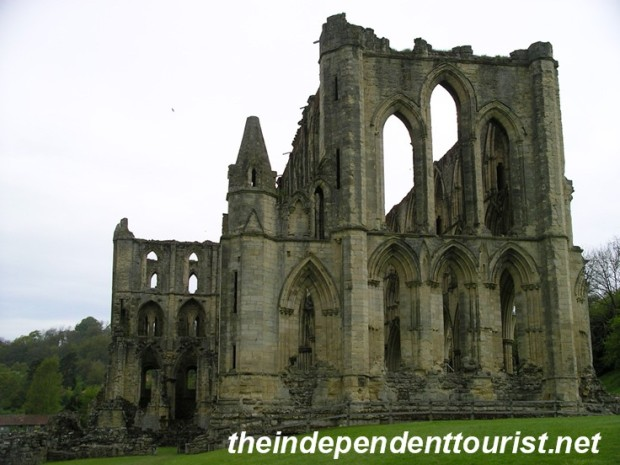A view of the main church at Rievaulx.