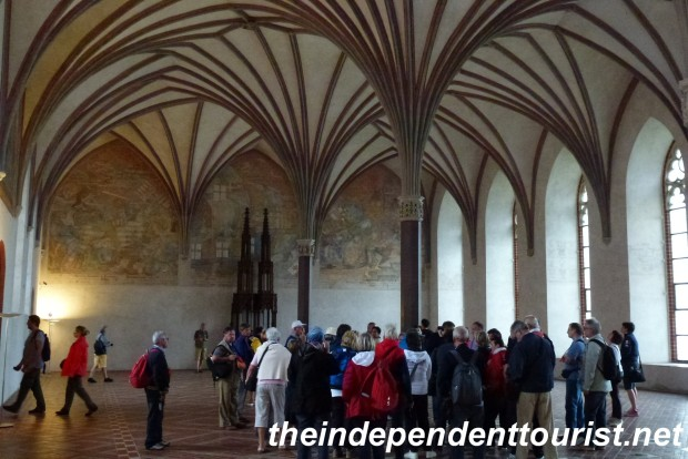 The Great Refectory, Middle Castle - Malbork. Largest Gothic interior of its kind in Central Europe. Used for banquets and entertaining.