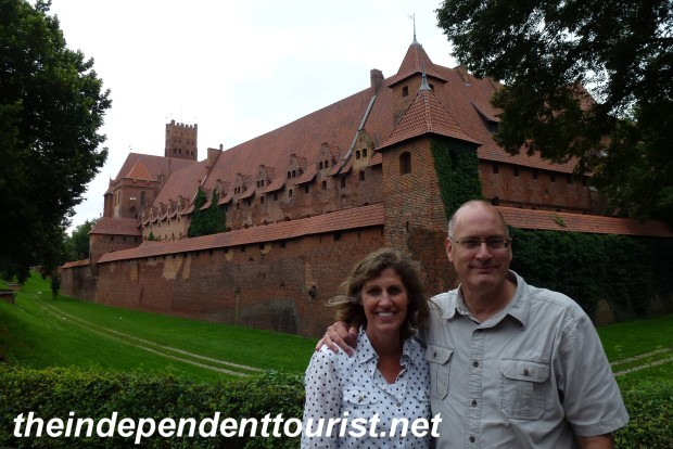 A view of the eastern side of the Middle Castle at Malbork.