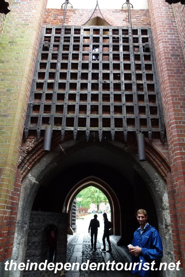 The massive gate entrance to the Middle Castle - Malbork.