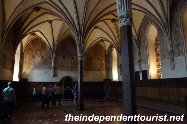 The Chapter Room (where business would be conducted) in the High Castle - Malbork.