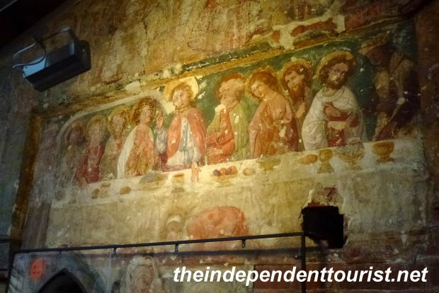 The Last Supper frescoe in St. Mary's Church.