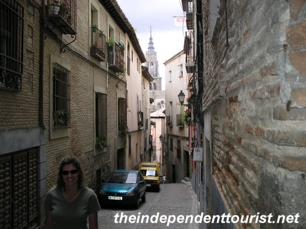 The narrow streets of old Toledo.