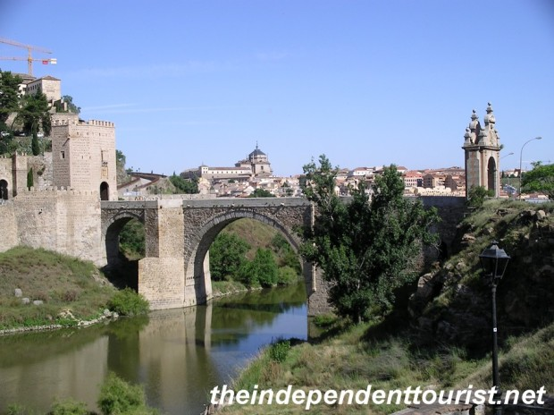 One of the several bridges over the River Tagus in Toledo.