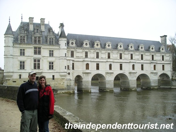 The gallery of Chenonceau spanning over the River Cher.