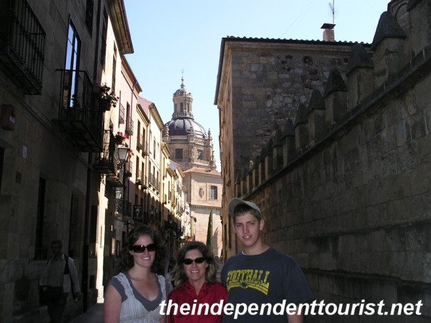 The narrow streets of Salamanca.