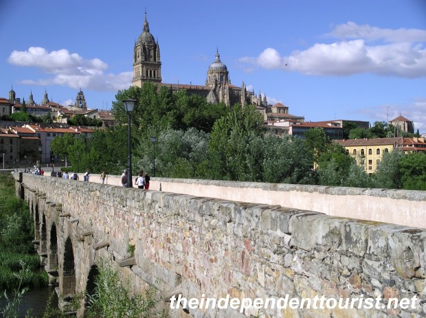 The 1st century AD Roman Bridge in Salamanca.