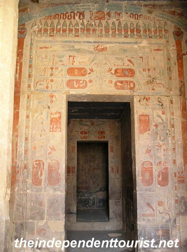 The decorated rooms of the Temple of Hatshepsut.