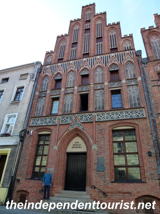 Nicolaus Copernicus' house in the center of Toruń.