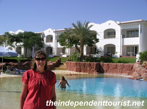 One of the nine pools at the Hilton Sharm Dreams Resort. Great hotel.