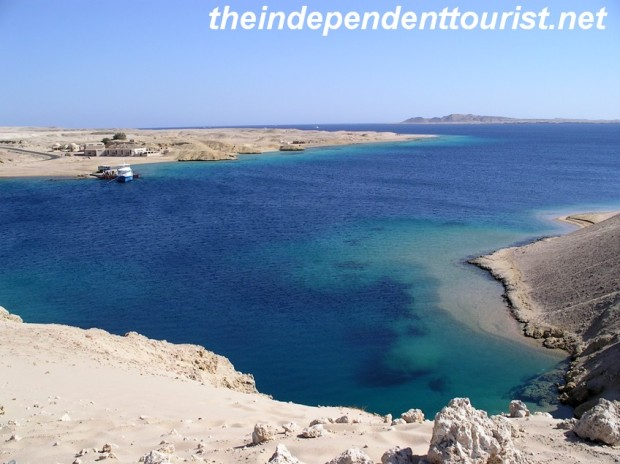 A view of the shore heading back to Na'ama Bay from Ras Mohammed National Park.