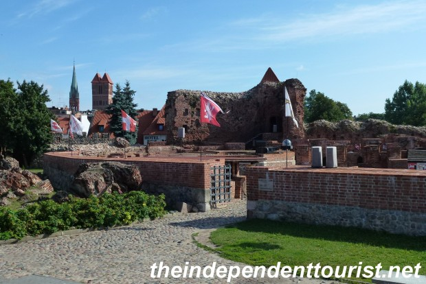 The ruins of the Teutonic Knights' castle in Toruń.