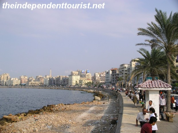 The Corniche in Alexandria.