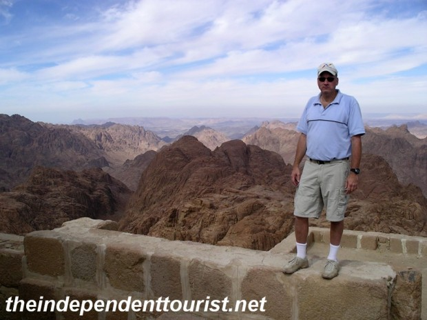 A magnificent view from the top of Mt. Sinai.