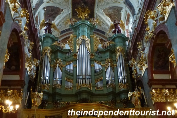 The organ pipes in the Basilica of Jasna  Góra.