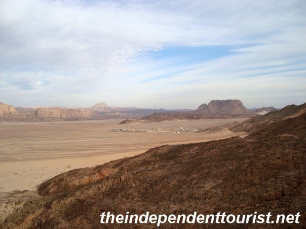A view of the Sinai peninsula landscape on the way to Mt. Sinai.