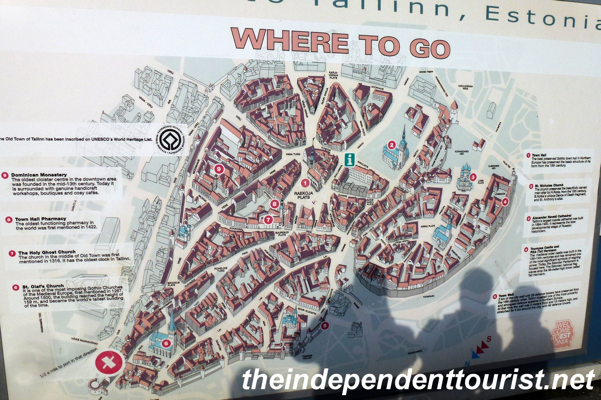Tallinn estonia a medieval gem the independent tourist a large map of tallinn old town greets cruise ship visitors gumiabroncs Gallery