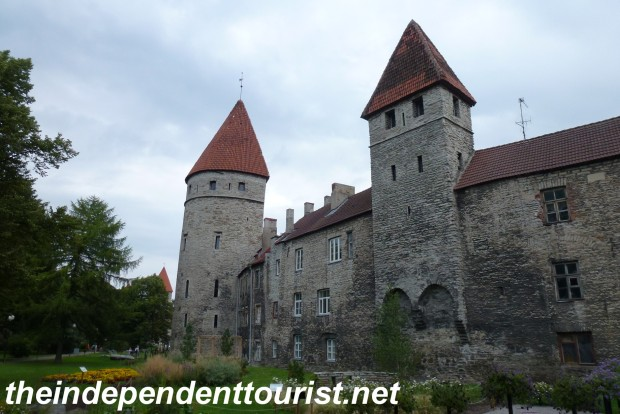 Part of the Old Town towers and walls, an area called Towers Square.